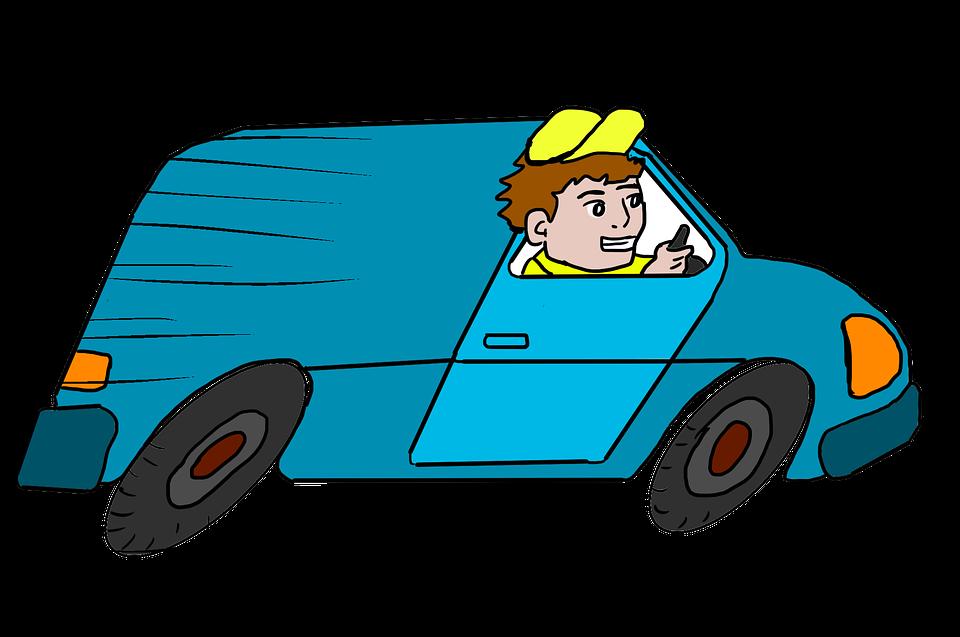 jízda s dodávkou